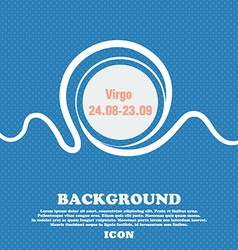 Virgo sign Blue and white abstract background vector image