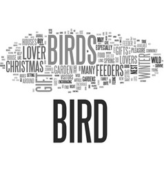 what gift can i give a bird lover this christmas vector image