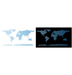 World continent map hex-tile abstraction vector