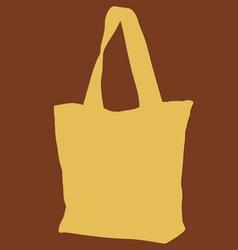 Yellow Cloth Bag vector