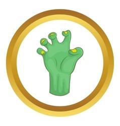 Zombie hand icon vector