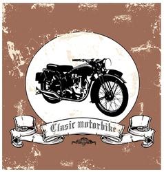 clasic motorbike vector image vector image