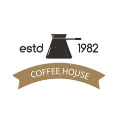 Coffee shop sign cafe symbol badge vector