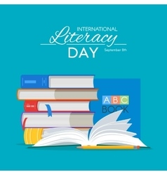 International Literacy Day poster Education vector image