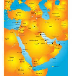 Middle East vector image