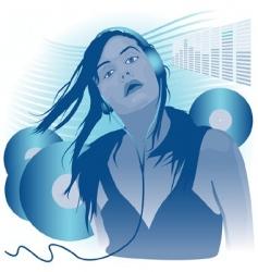 music girl vector image vector image