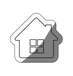 figure house with window and chimney vector image