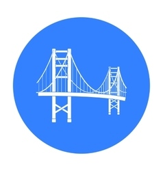 Golden Gate Bridge icon in black style isolated on vector image