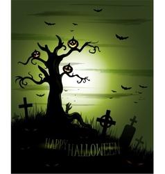 Greeny Halloween background vector image vector image