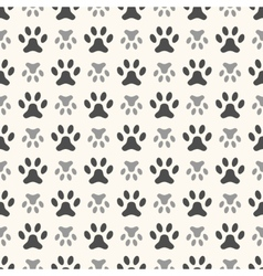 Seamless animal pattern of paw footprint Endless vector image