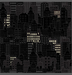 seamless background with city building night vector image vector image