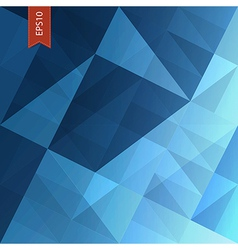 abstract triangles background blue vector image vector image