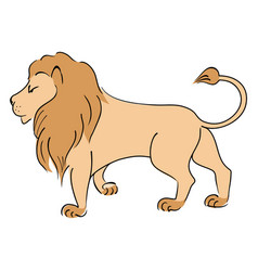 drawing lion vector image