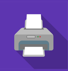 printer icon in flate style isolated on white vector image vector image