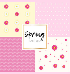 spring simple taxtue vector image vector image