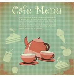 Vintage Cover Cafe Menu vector image vector image