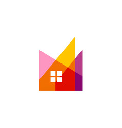 abstract home realty colored logo vector image vector image