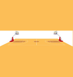 basketball field vector image