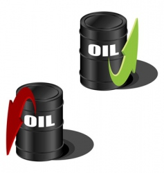 oil prices up and down vector image