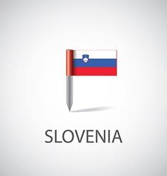 slovenia flag pin vector image