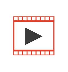 strip film play movie cinema symbol vector image
