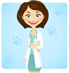 veterinarian vector image vector image