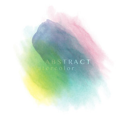 Abstract rainbow watercolor brush background vector