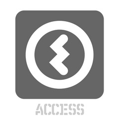 Access conceptual graphic icon vector