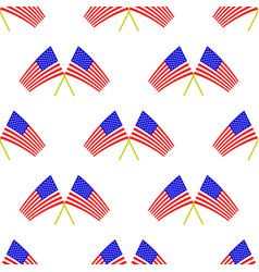american flag seamless pattern vector image