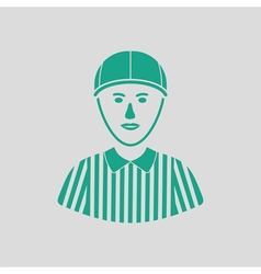 American football referee icon vector image