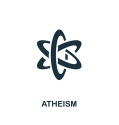Atheism icon simple element from religion vector