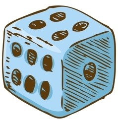 Blue Dice vector image