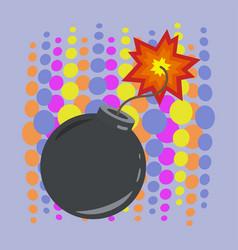 Boom bomb icon design isolated vector