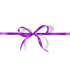 bow made narrow ribbon vector image