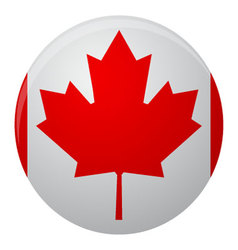 Canada flag icon flat vector image