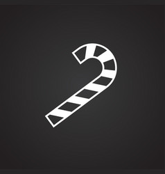 candle cane on black background vector image