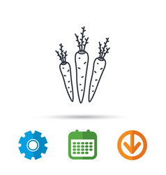 carrots icon vegetarian food sign vector image