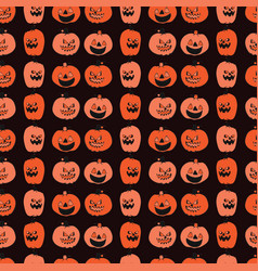 carved halloween pumpkin pattern vector image
