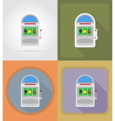 casino flat icons 04 vector image