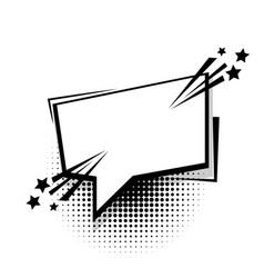 Comic text template vector