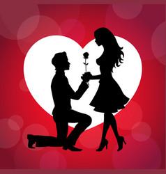 Couple proposing their love design vector