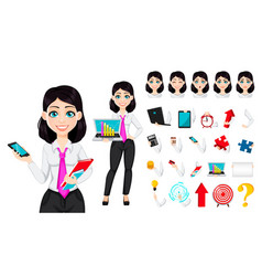 cute businesswoman cartoon character vector image