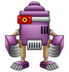 Cute cartoon robot isolated on white background vector