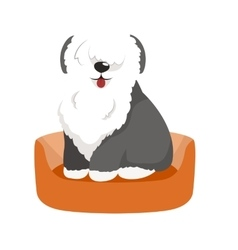 cute pet bed place for sleeping dog vector image