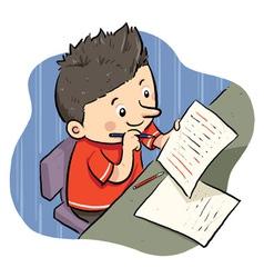 Doing Homework vector