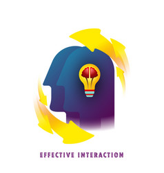 effective interaction general knowledge vector image