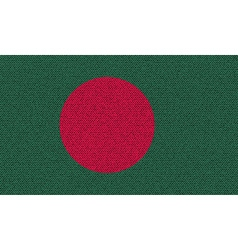 Flags Bangladesh on denim texture vector image