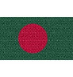 Flags Bangladesh on denim texture vector