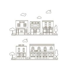 Flat City Street vector image