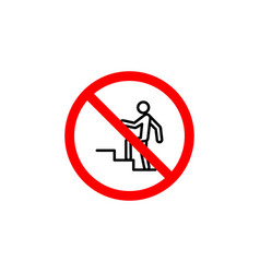 Forbidden climb stairs icon can be used for web vector